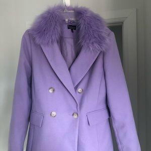 🤩HOST PICK🤩TOPSHOP Naomi Faux Fur Lilac Coat